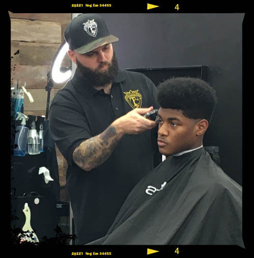 Sean Casey, Barber cutting hair at Twin Cutz